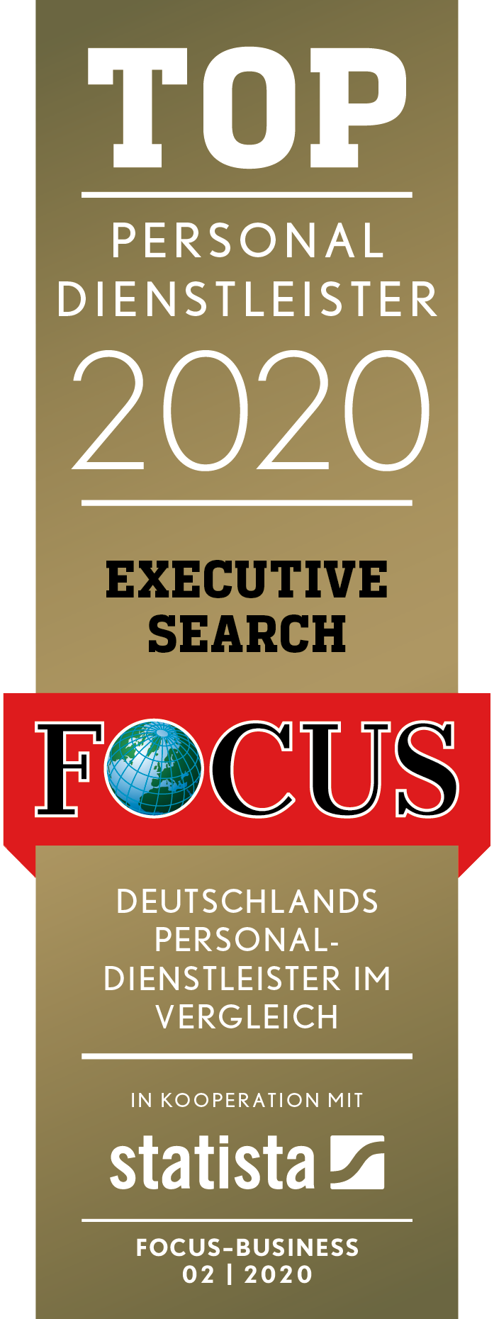 TOP Personaldienstleister ExecutiveSearch 2020